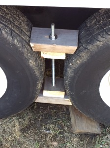 a set of wheel chocks