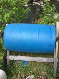 a compost tumbler