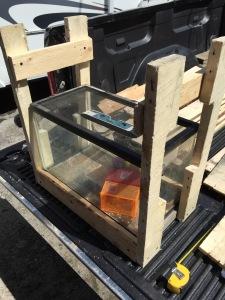 wooden fishtank frame