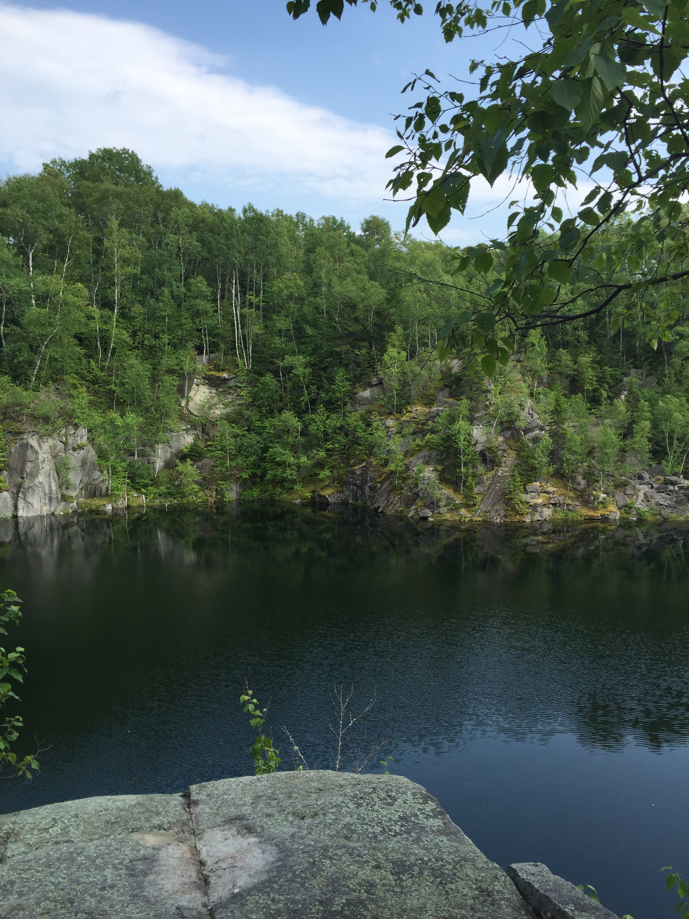 vista overlooking a stone quarry