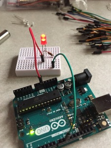 micro controller blinking an led