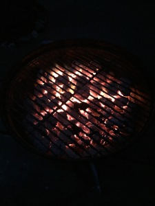 a roaring grill